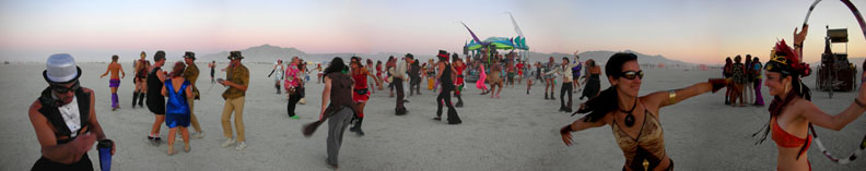 Otter Clan Dance on the Playa by Letucia